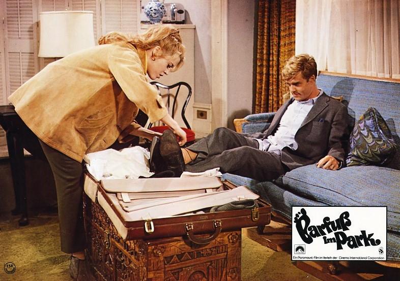 barfu im park original aushangfoto robert redford jane fonda charles boyer ebay. Black Bedroom Furniture Sets. Home Design Ideas